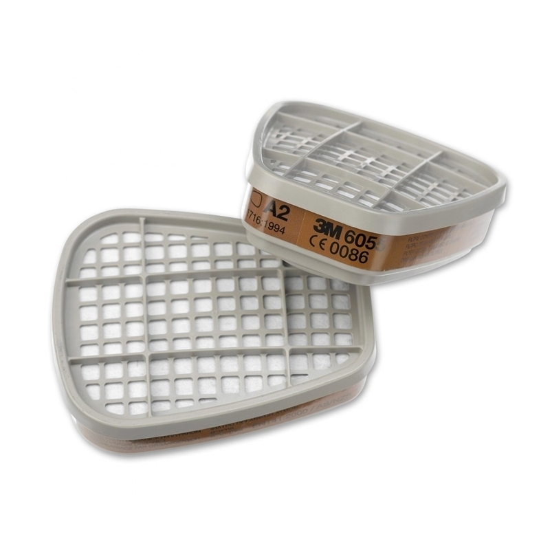 3M 6055 A2 Gas and Vapour Filter (1 Pair)