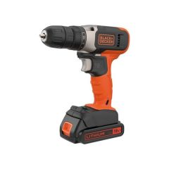 Black & Decker 18V Lithium-ion Drill Driver with a 1.5Ah Battery & 400mA Charger