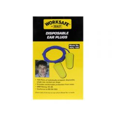 Sealey 404/100 Ear Plugs Disposable Corded Pack of 100 Pairs