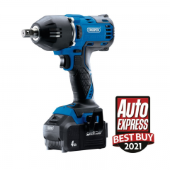"""Draper 99251 D20 20V Brushless Mid-Torque Impact Wrench 1/2"""" 2 X 4.0Ah Batteries, 1 X Charger, 400NM"""