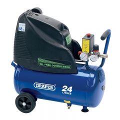 Draper 24978 24L 230V 1.5hp (1.1kW) Oil-Free Air Compressor