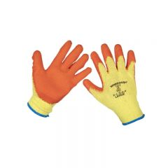 Sealey 9121L/B120 Super Grip Knitted Gloves Latex Palm (Large) - Pack of 120 Pairs