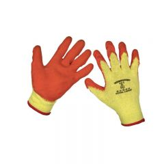Sealey 9121XL/12 Super Grip Knitted Gloves Latex Palm (X-Large) - Pack of 12 Pairs