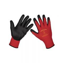 Sealey 9125L Flexi Grip Nitrile Palm Gloves (Large) - Pair