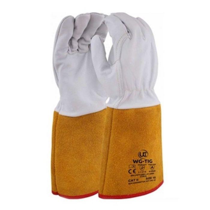 Ultimate Premium Gold Cuff Tig Welding gloves Size 10